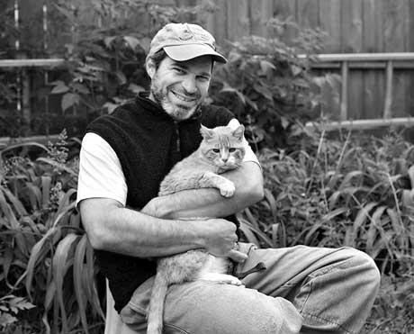 Steve Semken with cat Wendell
