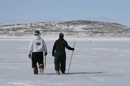 Inuit on Arctic ice