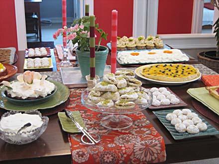 desserts, dessert buffet, World Peace Ceramics