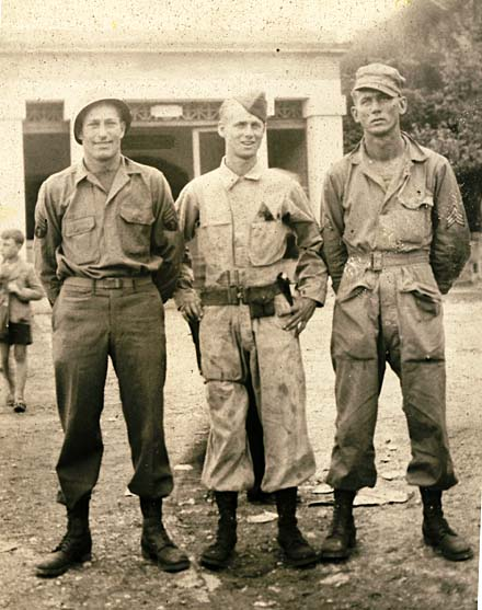 George DePuydt, Harold Uhlrich, WWII soldiers, 753rd Tank Battalion