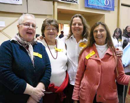 JoBeth Lewer, Patti Sodeberg, Bonie Thompson, Melinda Arndt, Fairfield Volunteer Center, Fairfield Iowa