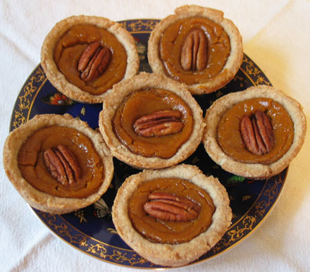 tarts, sweet potato tarts, individual pies, homemade pie crust