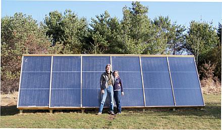 solar collector, Thom Krystofiak, Diana Krystofiak