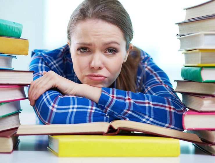 depressed woman, hopeless woman, worried student