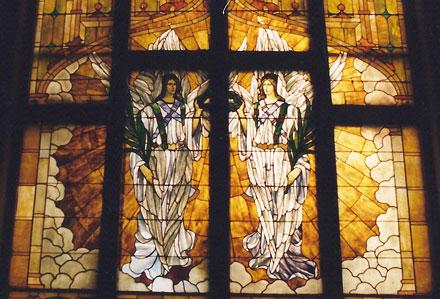 barhydt chapel, angel windows, angel stained glass