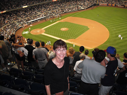 Mary Helen Stefaniak, yankee stadium