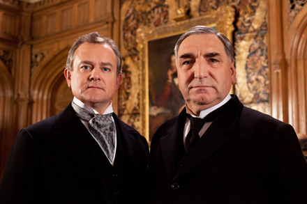 downtown abbey, hugh bonneville, jim carter