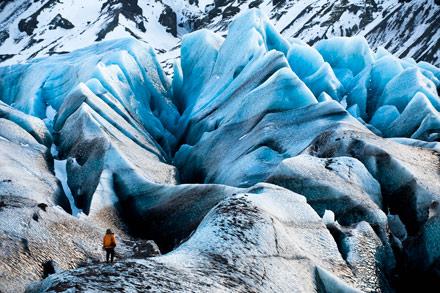 chasing ice, svina glacier