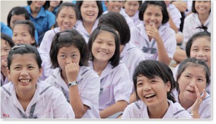 Dhammajarinee Witthaya Girls' School, thai girls school, aunampai