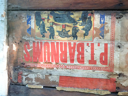 circus poster, circus poster fragment, pt barnum circus poster, vintage circus poster, louis englert house