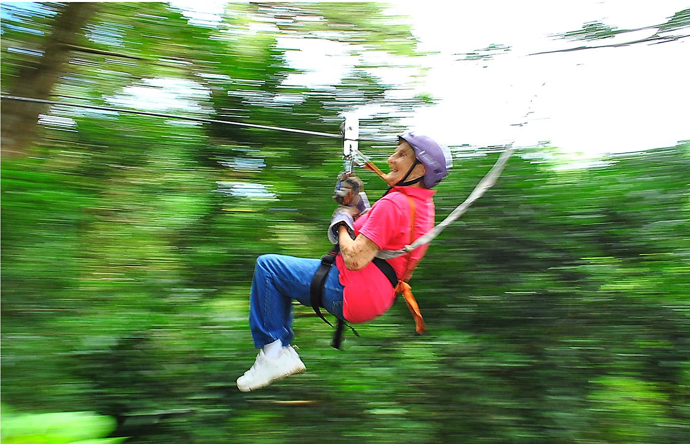 senior ziplining