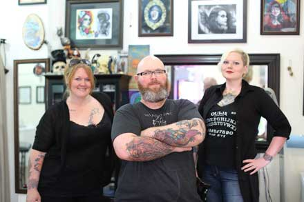 Joseph Ware, Birdget Turnmire, tattoo, Pure Imagination Tattoo, full-sleeve tattoo