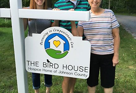 the bird house, hospice iowa city, hospice johnson county