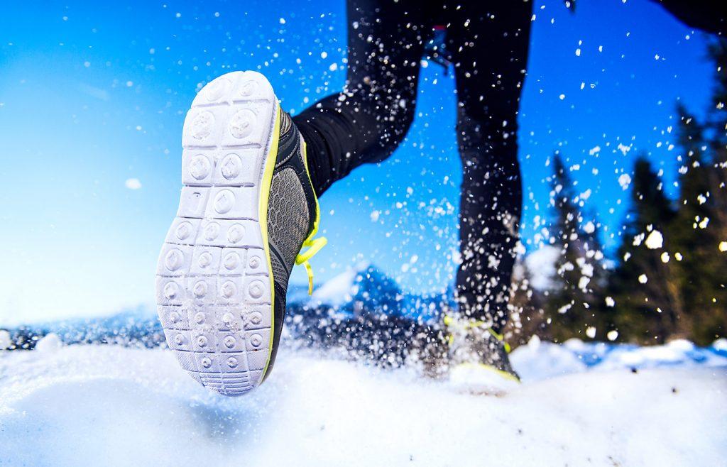 winter outdoor exercise, winter runner