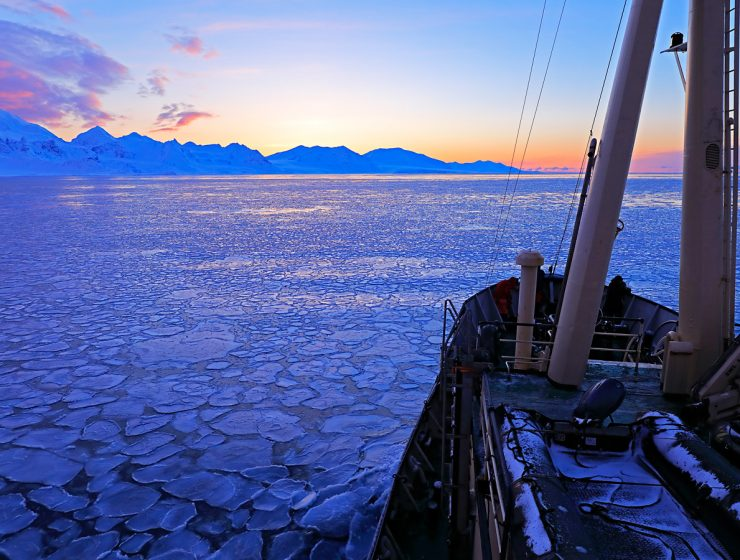 ice breaker, boat at sea